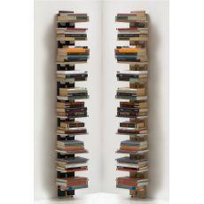 Zia Ortensia P - Libreria di design, da terra fissata a parete, in legno massello, disponibile in diverse dimensioni e colori