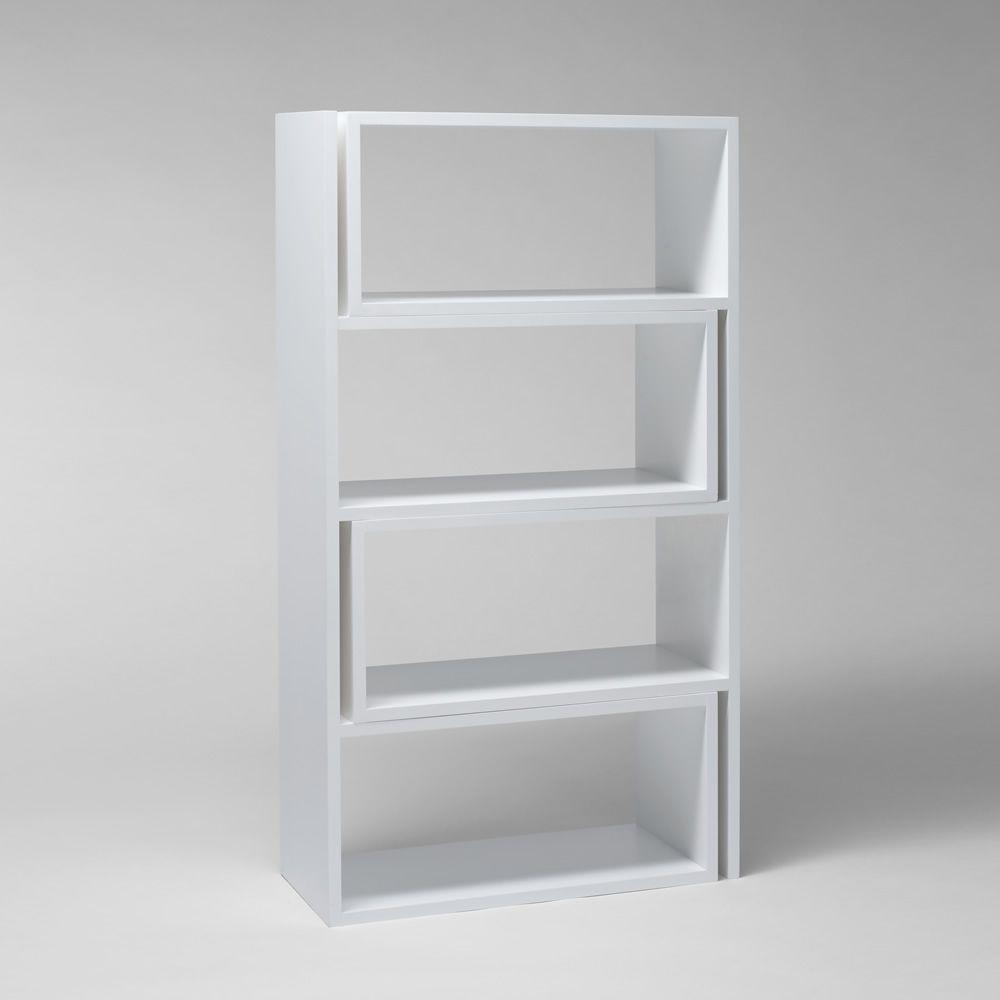 Extend biblioth que extensible en mdf laqu blanc sediarreda - Bibliotheque blanc laque ...