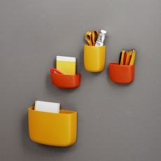 Pocket Organizer - Plastic wall storages by Normann Copenhagen, available in different colours and sizes