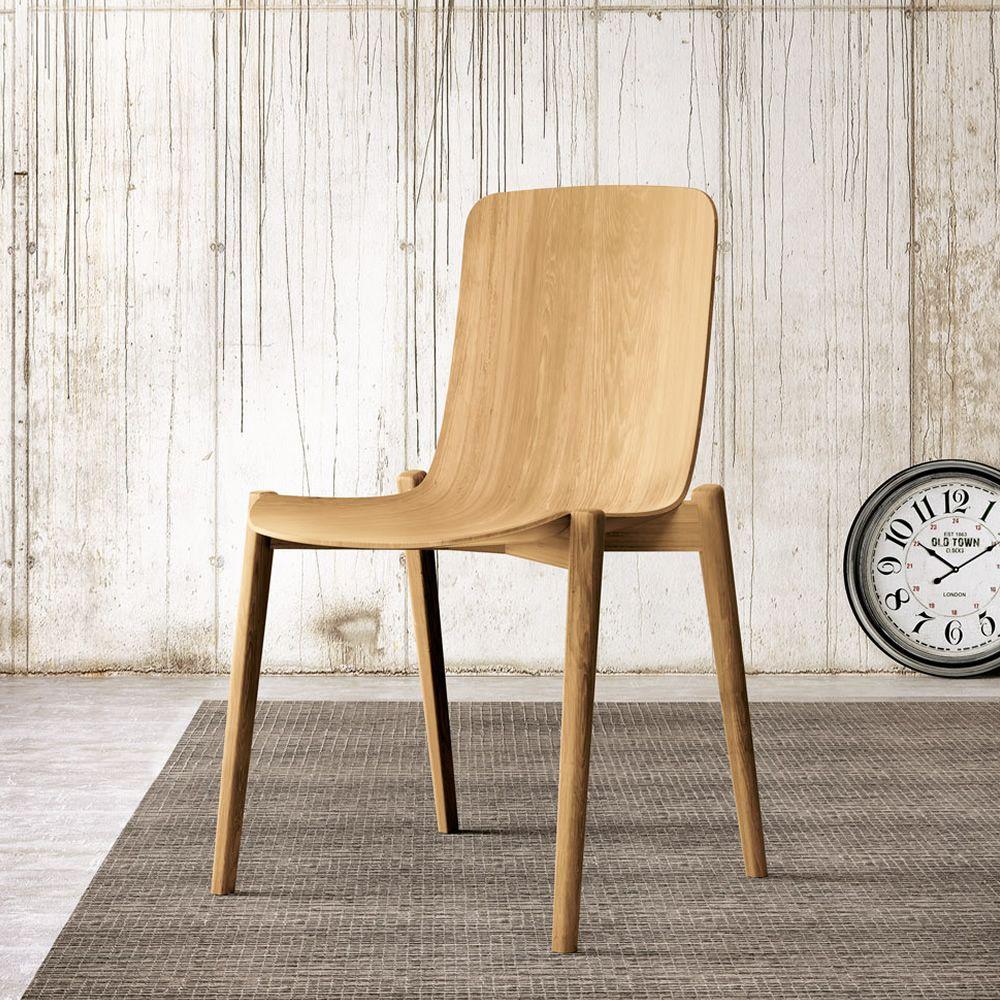 Dandy chaise colico en bois de ch ne disponible dans for Sedie design treviso