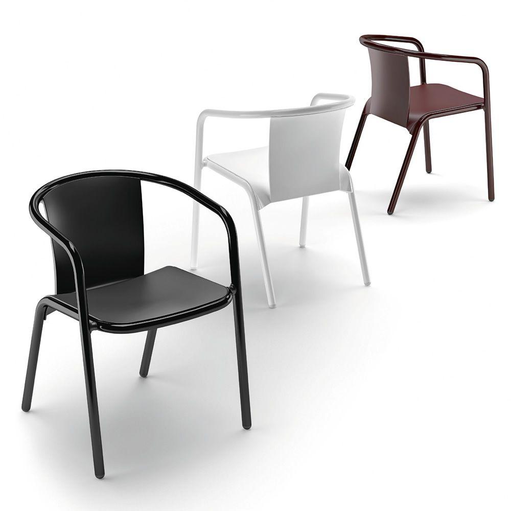 Mar sedia design in alluminio e polipropilene for Sedie in alluminio