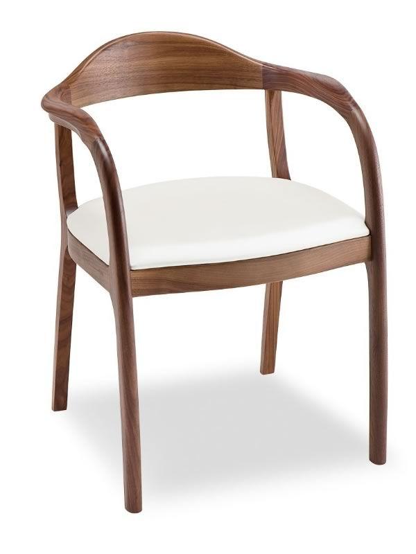 Timeless sedia design di tonon in legno seduta a for Sedie pelle e legno