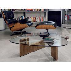 Amanda 6275 - Tavolino Tonin Casa in legno con piano in vetro, diverse finiture disponibili