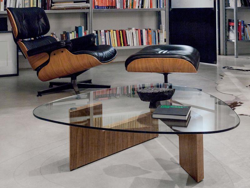 amanda 6275: beistelltisch tonin casa aus holz mit glasplatte, in, Moderne