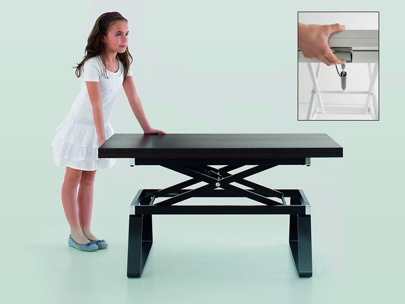 Orione tavolino trasformabile in tavolo da pranzo for Altezza tavolo