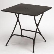 Pieghevole 2736 - Tavolo pieghevole in metallo per giardino, 80 x 80 cm