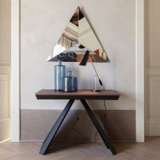 6509 Consolle Ventaglio - Tonin Casa extendable console-table made of metal and wood, different colours available