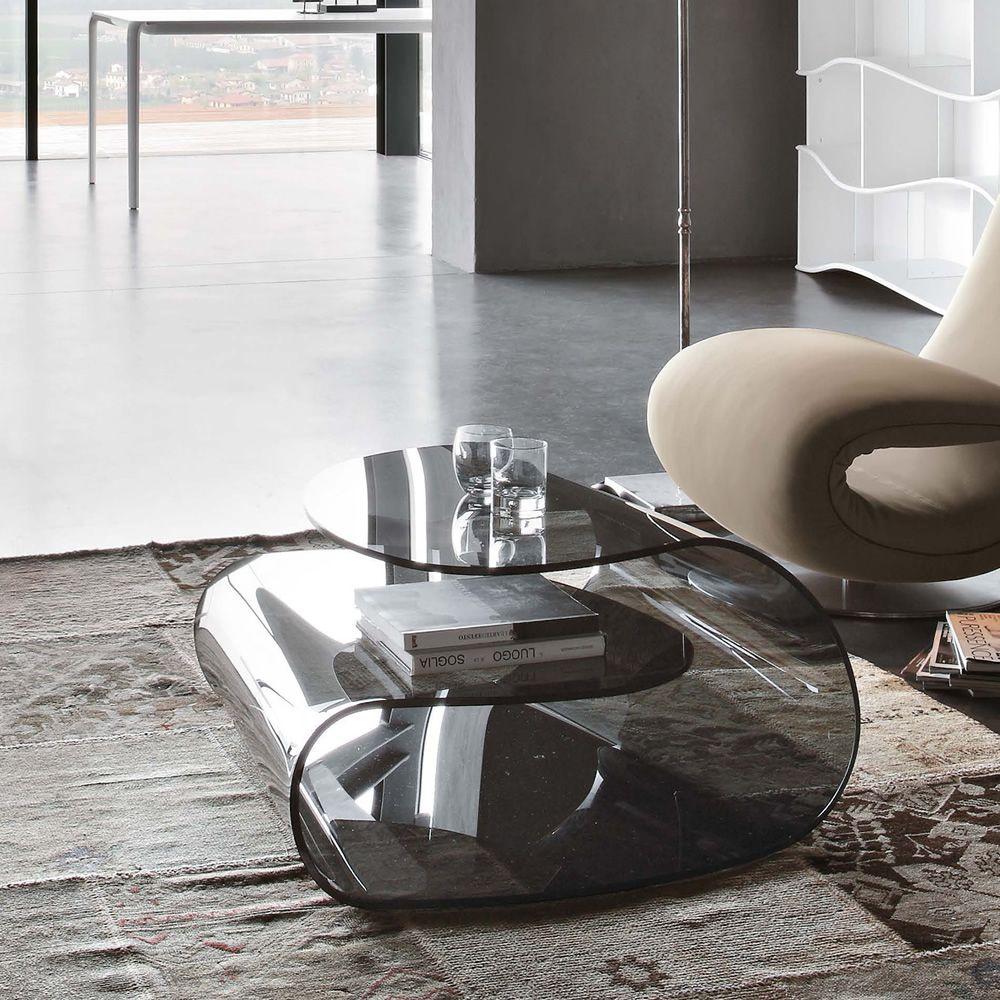 Tavolini Di Vetro Design.Volup 8195 Tavolino Di Design Tonin Casa Interamente In Vetro