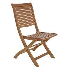 Catalina - Sedia pieghevole in legno acacia, con o senza braccioli, per giardino