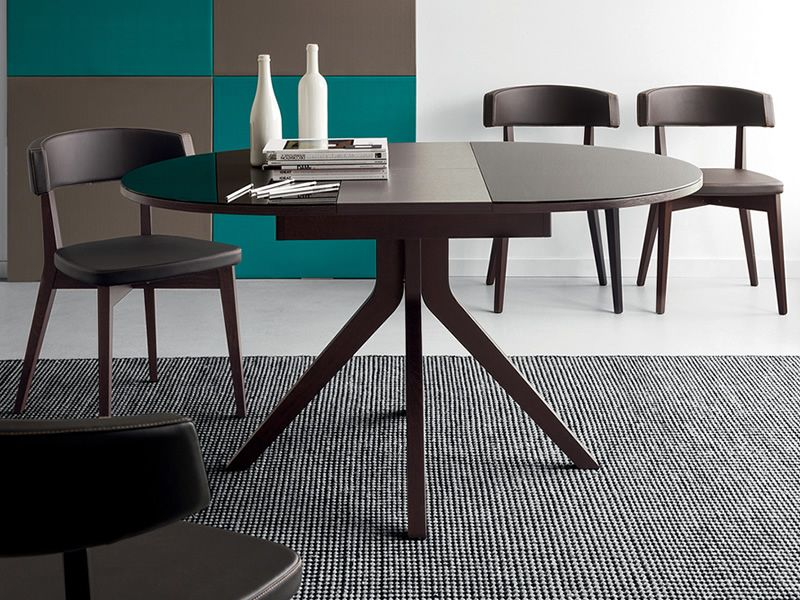 Cb4725 oregon table rallonge connubia calligaris en for Table ronde 110 cm avec rallonge
