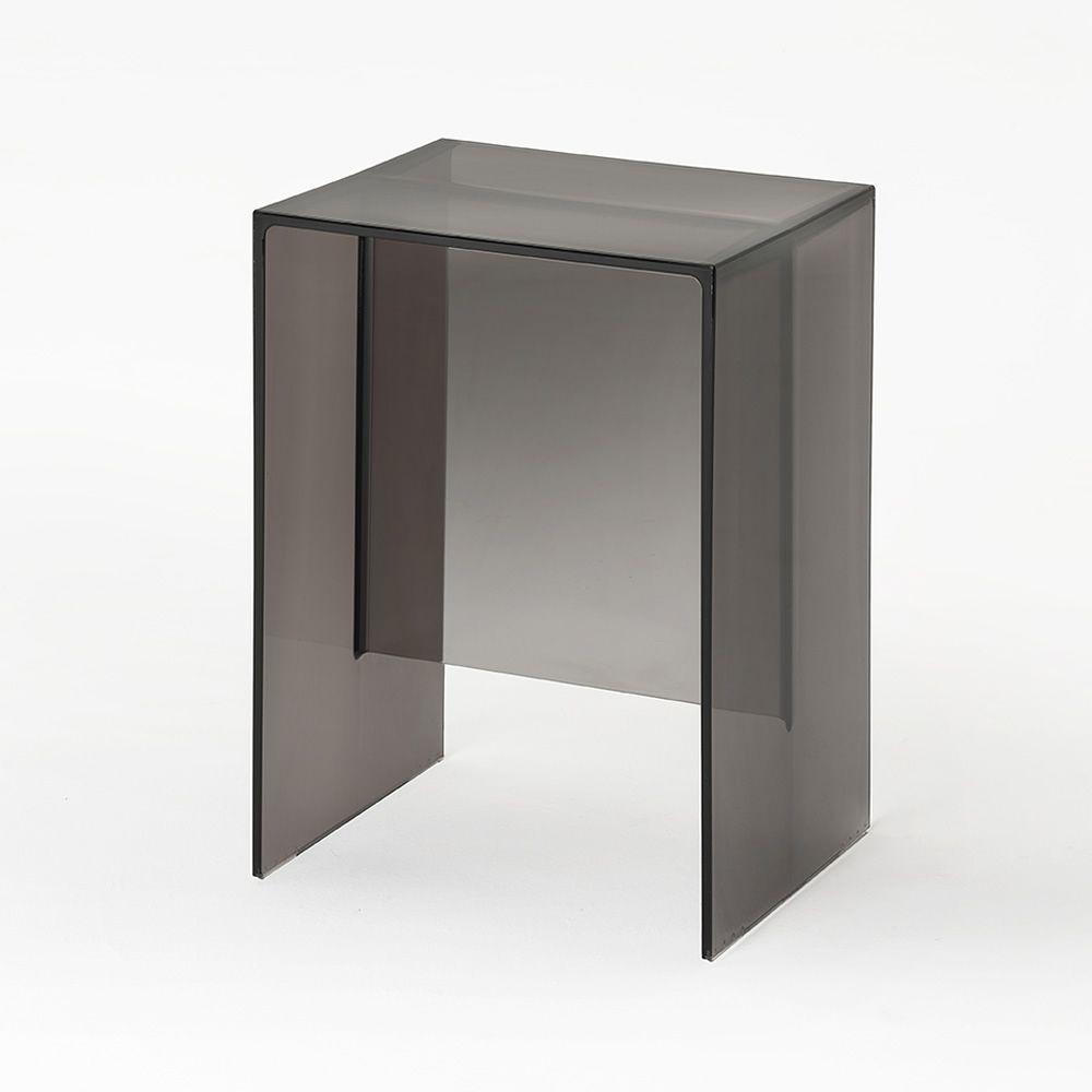 max beam tabouret salle de bains en technopolymre gris fum - Tabouret Salle De Bain Transparent
