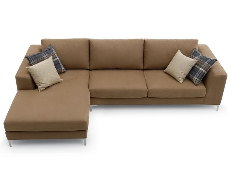 Avatar chaise longue 2 or 3xl modern sofa with chaise longue with upholstery in fabric or for Modern leather chaise longue