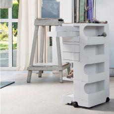 Boby - Chariot-armoire design B-Line, avec tiroirs et roulettes, en ABS, disponible en différentes couleurs et dimensions