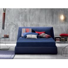 Calvin 2 - Padded double bed, several coverings, also with storage box