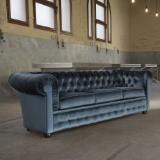800 XL - Classic sofa Domingo Salotti, 3 seats, available in different finishes and colors
