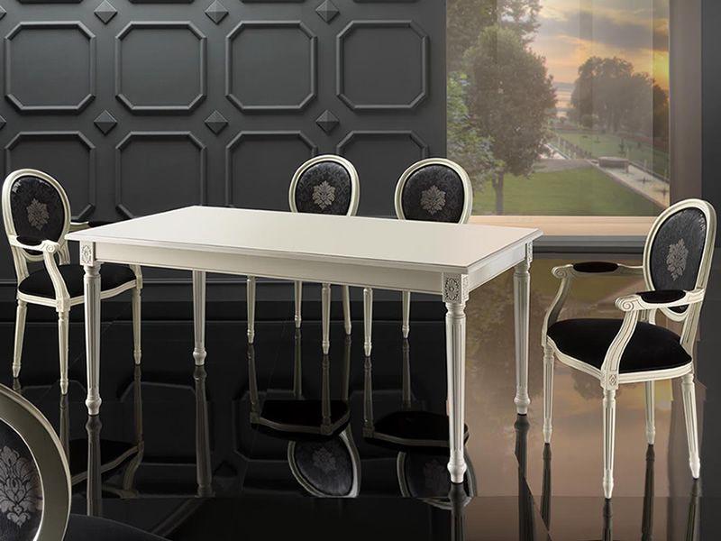 Vst156 klassischer verl ngerbarer holztisch tischplatte von 180x95cm verschiedene farben - Holztisch mit stuhlen ...