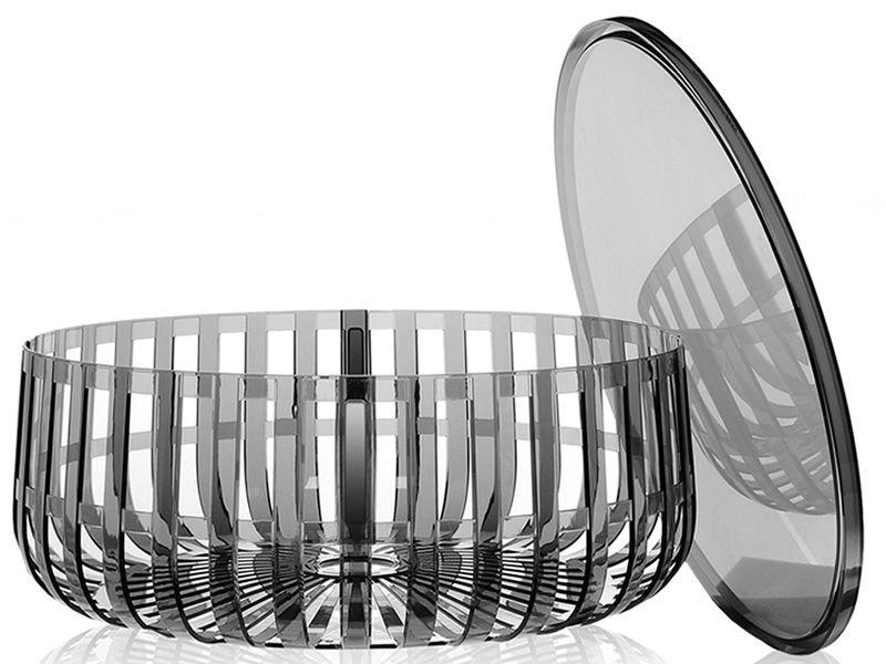 Panier porte revues table basse kartell de design en for Table basse panier