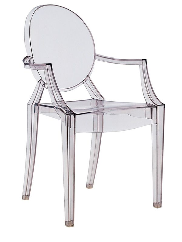 Louis ghost poltroncina kartell di design in for Sedie di design in policarbonato