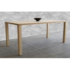 Basic - Tonon wooden table, 95x180 cm rectangular fixed, available in different essences and colors