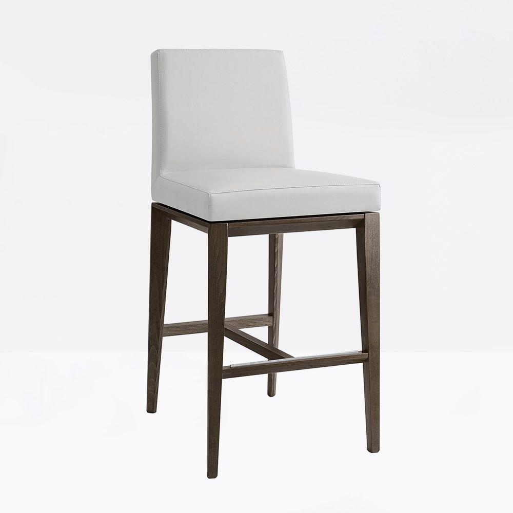 cs1445 gu bess tabouret calligaris en bois assise recouverte en simili cuir hauteur assise. Black Bedroom Furniture Sets. Home Design Ideas