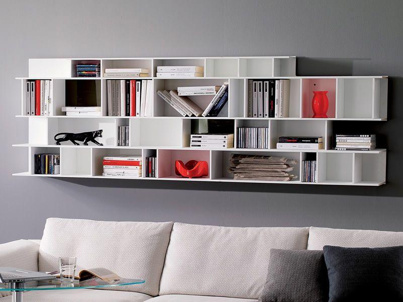 Byblos o libreria modulare da parete in legno sediarreda