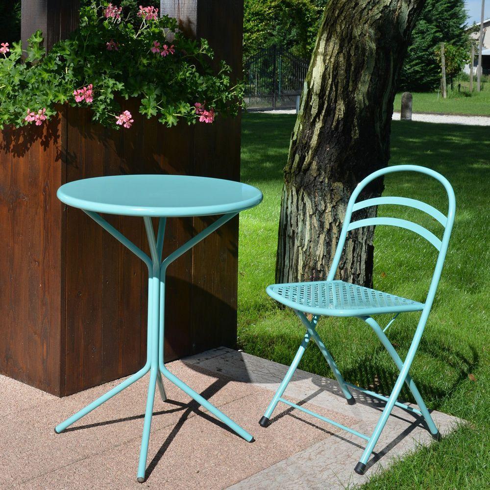 Rig83 table ronde en m tal diam tre 60 cm en diff rentes couleurs pour ja - Table ronde exterieur metal ...