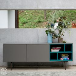 code 2 dall 39 agnese sideboard made of metal and veneered. Black Bedroom Furniture Sets. Home Design Ideas