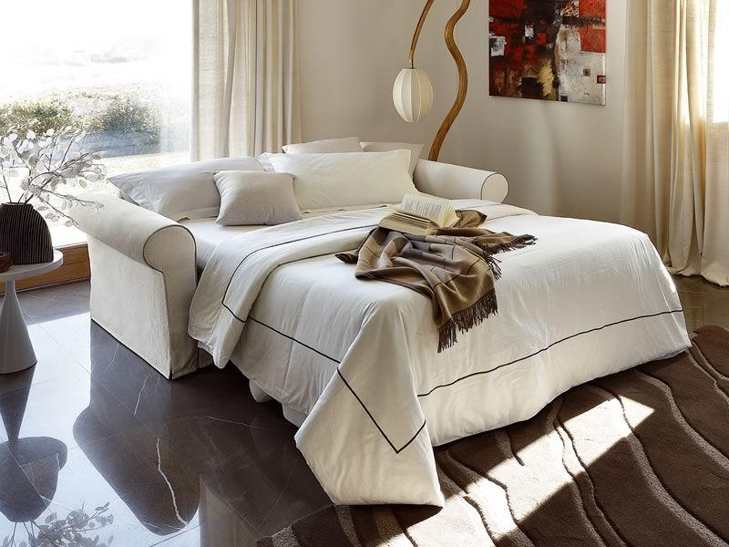 Asia divano letto classico a 2 o 3 posti maxi con - Divano letto aperto ...