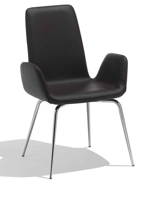 light a stuhl midj aus metall mit bezug aus leder kunstleder oder stoff sediarreda. Black Bedroom Furniture Sets. Home Design Ideas
