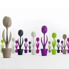Tulip - Complemento de design - lámpara de pie en tecnopolímero, disponible en varios colores, para exteriores