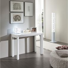 PA40F - Aluminium table-console with 46.5x100 cm top in several finishes, extendable