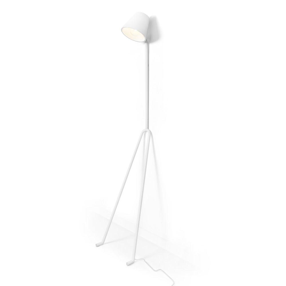 Ma ana lampe poser au sol en m tal laqu blanc ou gris - Abat jour pour lampe de sol ...