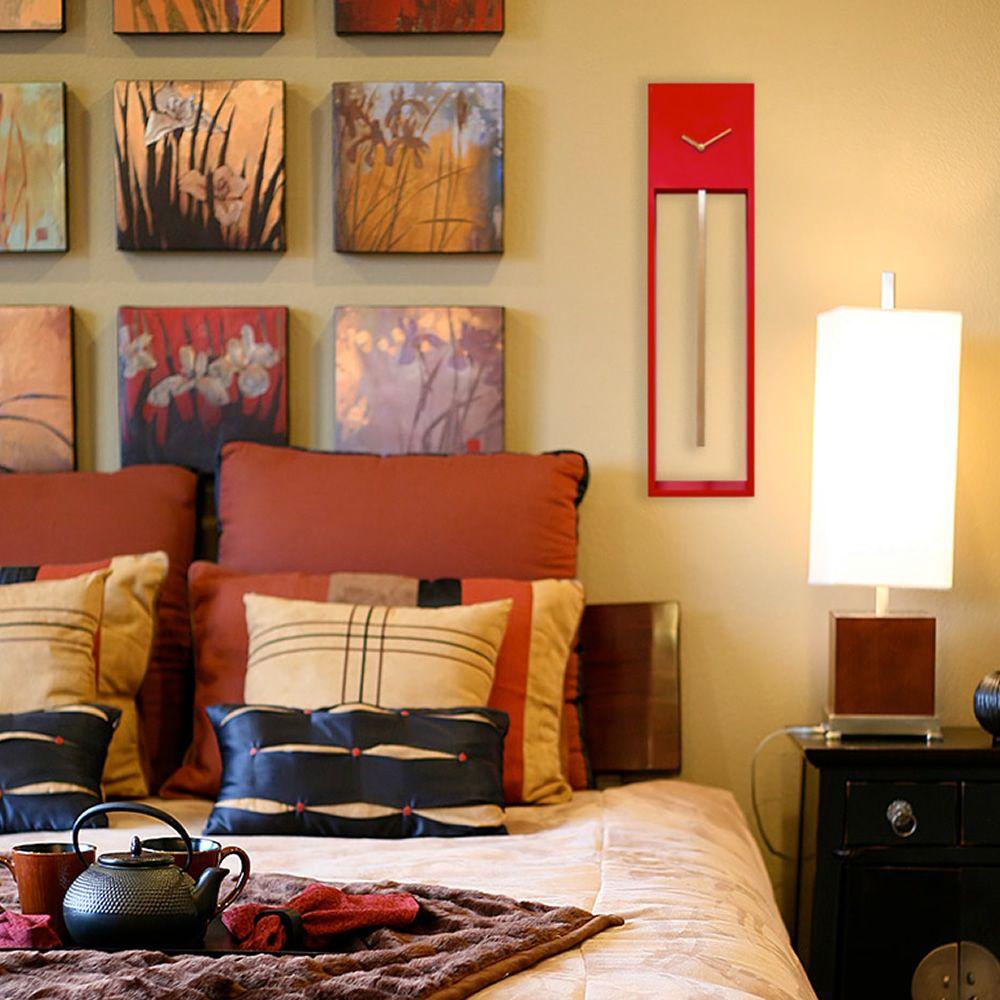 uaigong horloge murale en bois disponible dans diff rentes couleurs sediarreda. Black Bedroom Furniture Sets. Home Design Ideas