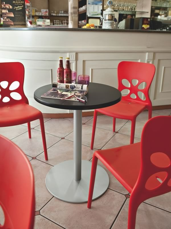... CB1313 Neon   Red Polypropylene Chairs ...