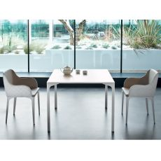 Armando - Midj fixed table made of metal, different sizes available