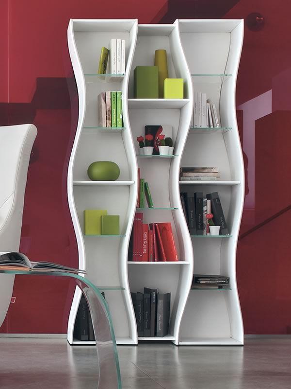 onda b 7318 biblioth que tonin casa en mdf laqu avec. Black Bedroom Furniture Sets. Home Design Ideas