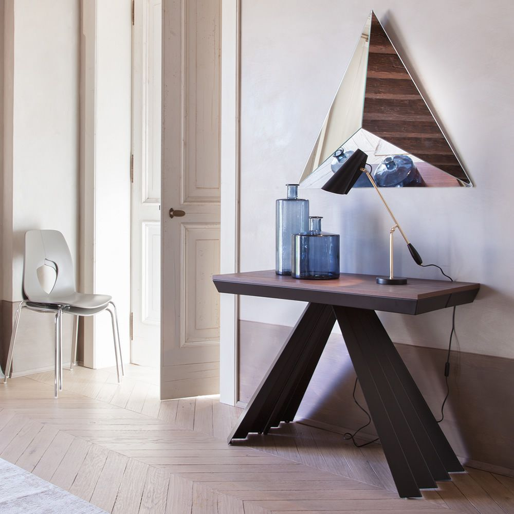 ventaglio c 6509 table console rallonge tonin casa en m tal et m lamin disponible en. Black Bedroom Furniture Sets. Home Design Ideas