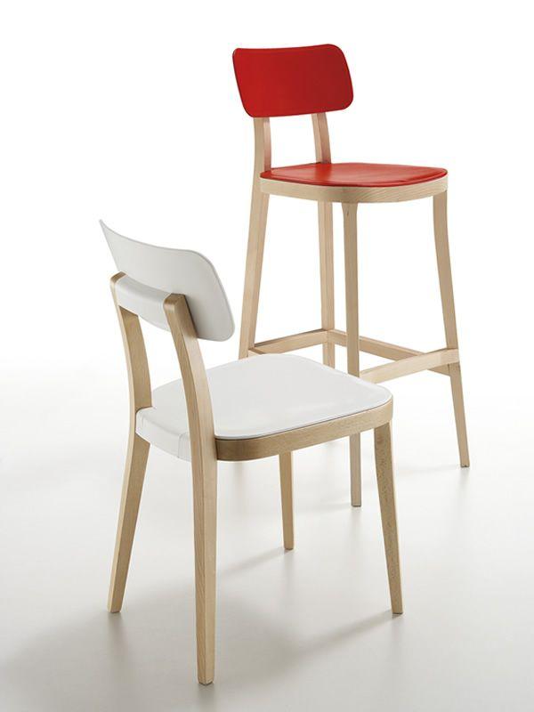 porta venezia stool f r bars und restaurants hocker aus holz mit verschiedenen bez gen und in. Black Bedroom Furniture Sets. Home Design Ideas