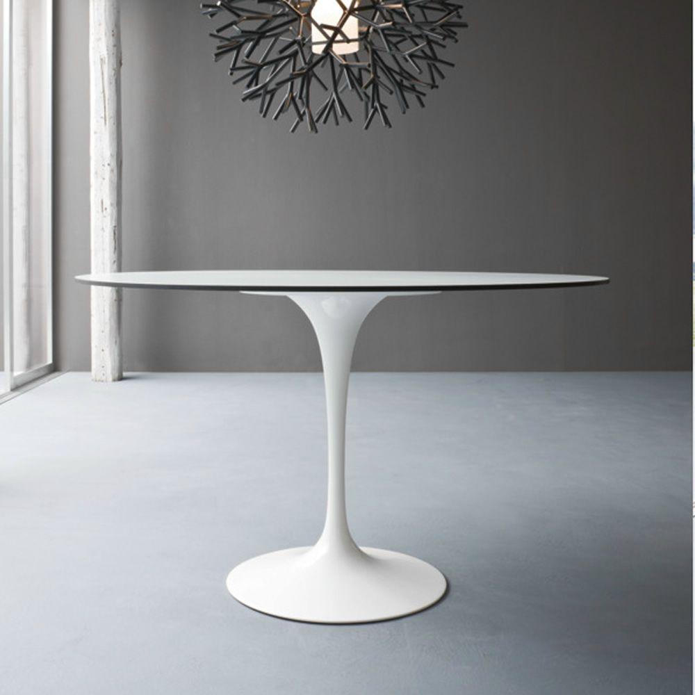 Saturno - Tavolo di design, con base in alluminio e piano in ...