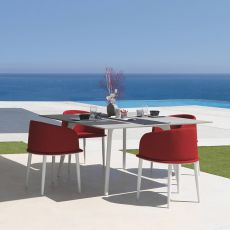 Cleo Alu - T - Aluminium table, available in several sizes, for garden
