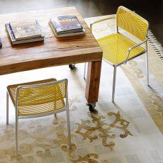 Audrey Shiny - Sedia Kartell di design, in allumino e plastica, impilabile