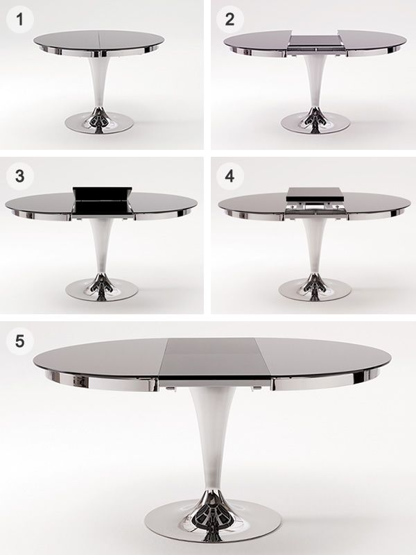 eclipse mesa redonda de metal tapa de cristal di metro On mesa redonda de cristal extensible