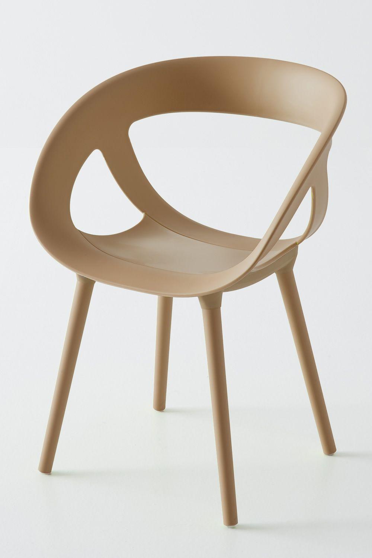 Moema BL   Weißer Design Stuhl Moema BL   Stuhl In Der Farbe Taubengrau ...