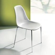 Baltimora 44.42 - Chaise moderne en métal et polymère, disponible en différentes couleurs.