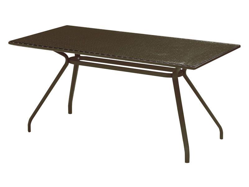 Open wt mesa de metal y mimbre sint tico emu distintos tama os disponibles - Mesas de mimbre ...