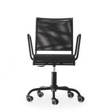 CS1474 Web Race - Calligaris office chair, swivel and adjustable in height, in metal and net, with wheels