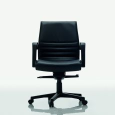 Dama Low - Executive chair with low backrest, available in fabric, leather or imitation leather