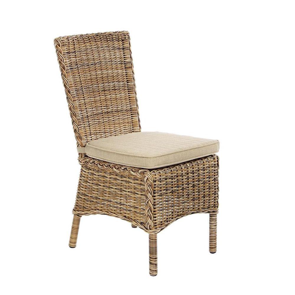 Antigua sedia in rattan sintetico con cuscino per - Sedia in rattan ...