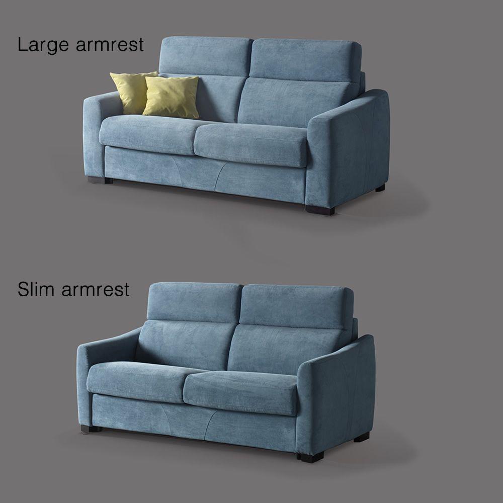 ciclamino - divano letto a 2, 3 posti o 3 posti xl, completamente