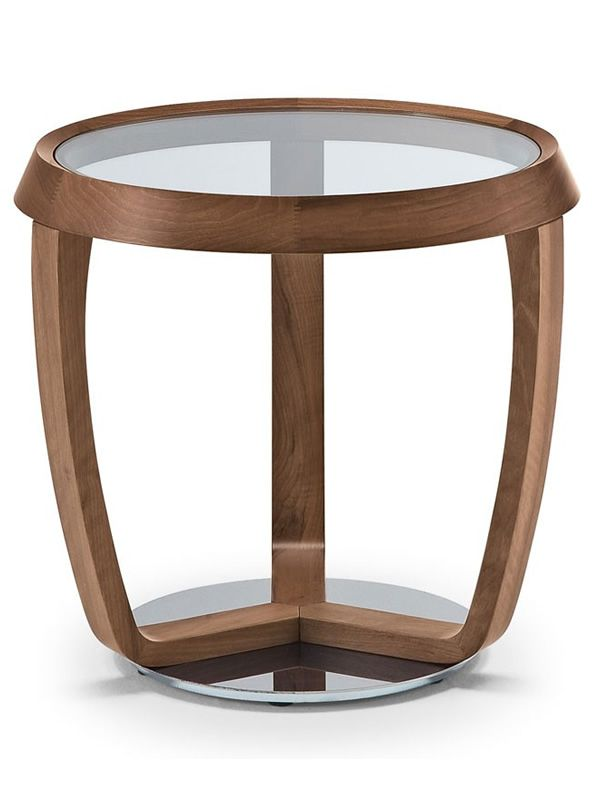 Time Small Coffee Table By Tonon With Glass Round Top Several